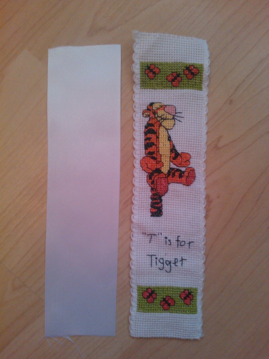 How to back a cross stitch bookmark (1/6)