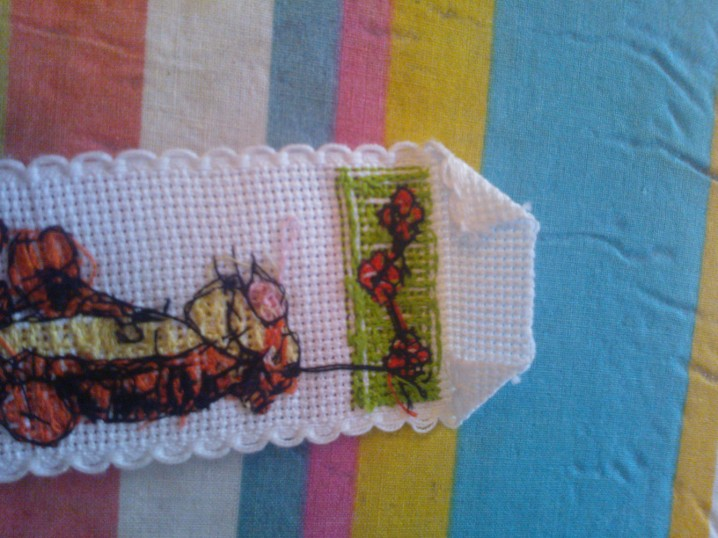 How to back a cross stitch bookmark (2/6)